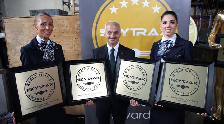 Awards van Skytrax voor Turkish Airlines