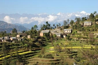 Rijstterrassen Nagarkot, Nepal