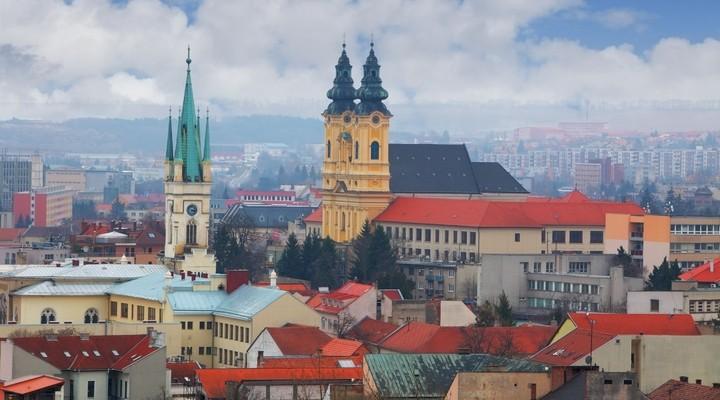 Uitzicht op de stad Nitra - Slowakije