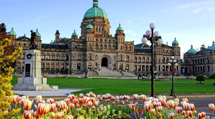 Historisch parlementsgebouw in Victoria