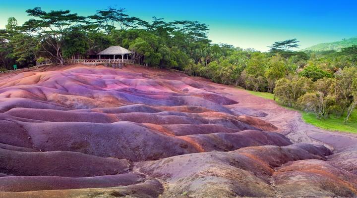 De zevenkleurige heuvels van Chamarel