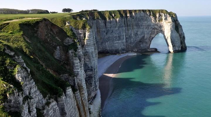 Grillige kustlijn van Normandië