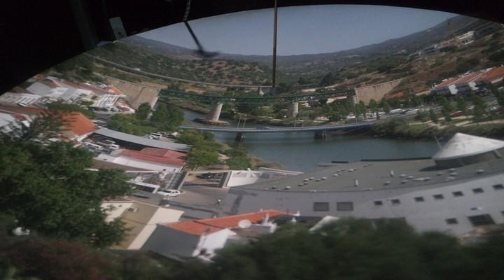 Tavira vanuit een Camera Obscura