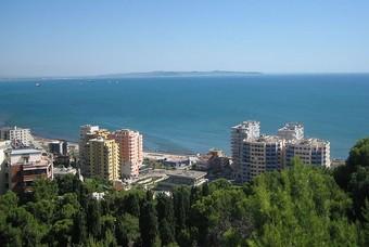 De havenstad Durrës