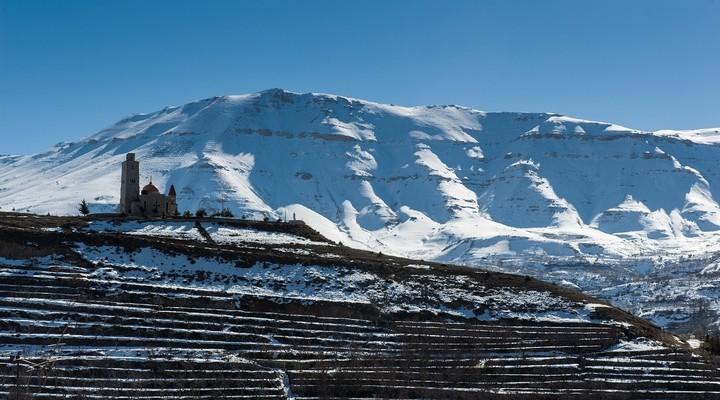 Besneeuwde bergen Libanon