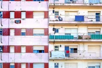 Twee flatgebouwen in Buenos Aires