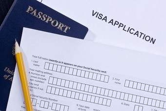 Een visumaanvraagformulier
