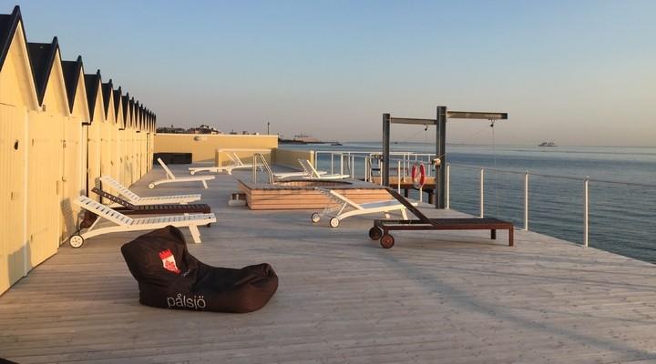 Het terras bij Pålsjöbaden