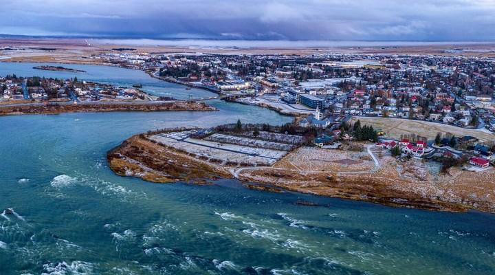 De rivier Ölfusá bij Selfoss ©Visit South Iceland