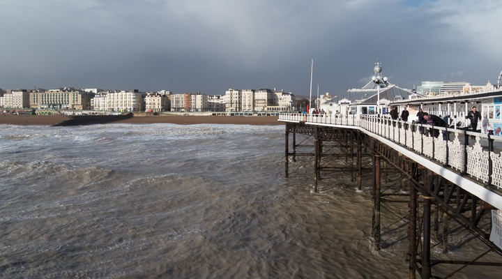 Water en strand Brighton Engeland