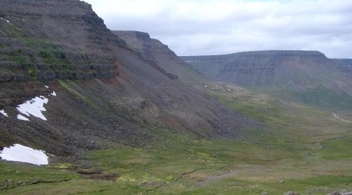 Landschap Isafjordur, IJsland