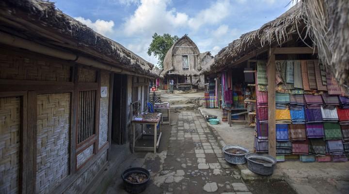 Traditioneel dorp op Lombok