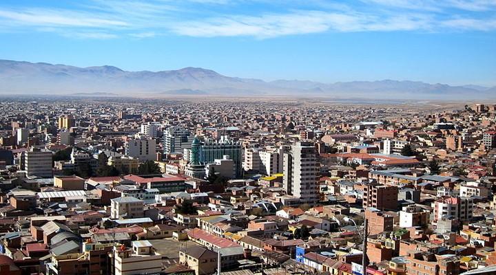 Uitzicht op de stad Oruro