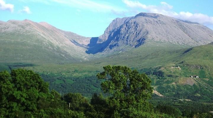 Uitzicht op landschap van Ben Nevis