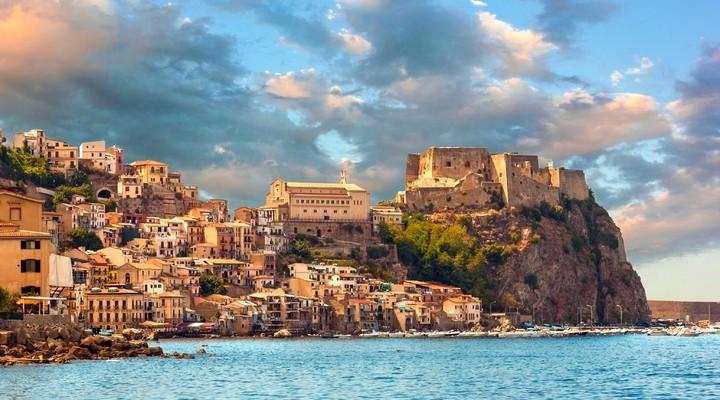 Kasteel Scilla, Calabrië, Italie