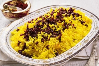 Chelo saffraan rijst Iran eten