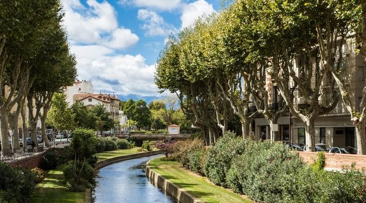 Perpignan, zonnige stad in Frankrijk