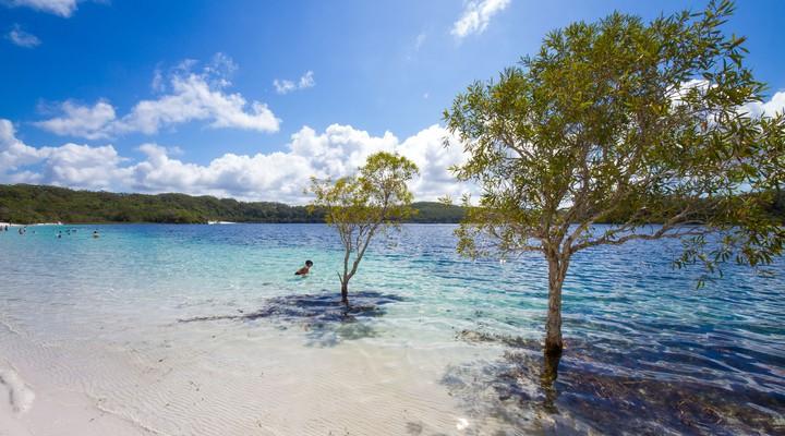 Lake McKenzie op Fraser Island