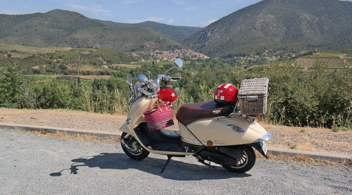 Met een scooter is de omgeving goed te verkennen