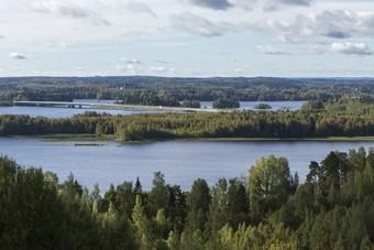 Uitzicht over Finse Merenvlakte