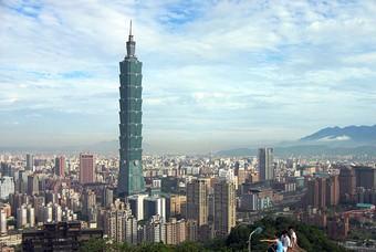 Uitzicht op Taipei