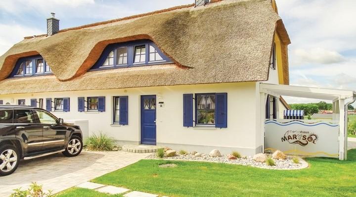 Huis met rieten dak