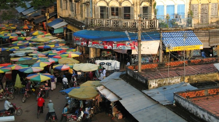 Markt Kratie, Cambodja