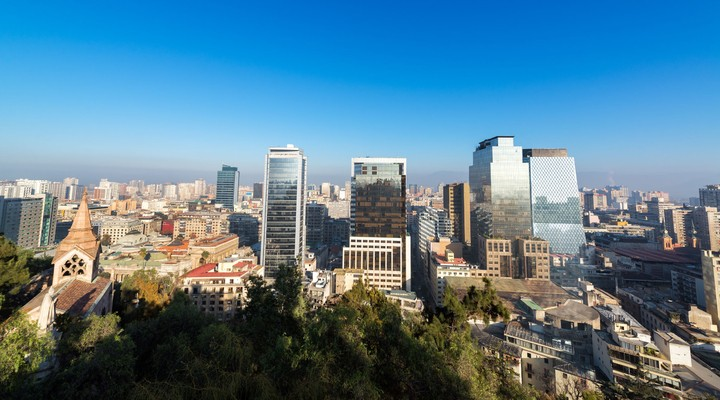Uitzicht op Santiago de Chile