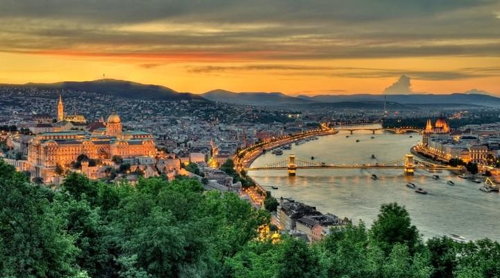 Uitzicht op Boedapest