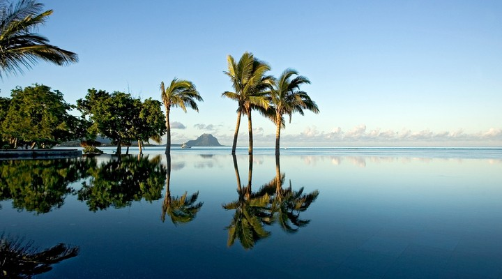 Prachtig uitzicht over de zee vanaf Mauritius