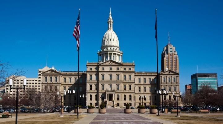 Michigan State Capitol Building in Lansing