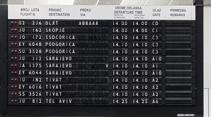 Vluchten vanaf Belgrado Nikola Tesla Airport
