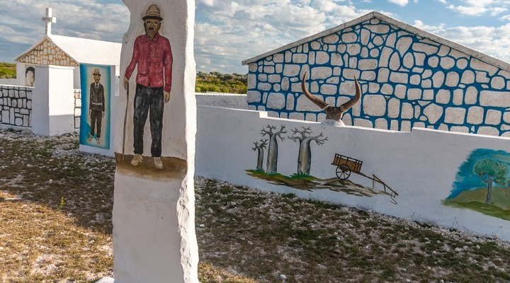 Traditionele tombe in Madagaskar