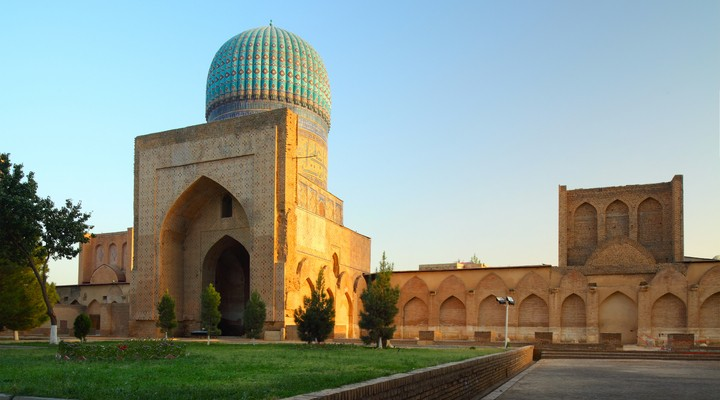 ibi Khanym Moskee in Samarkand, Oezbekistan