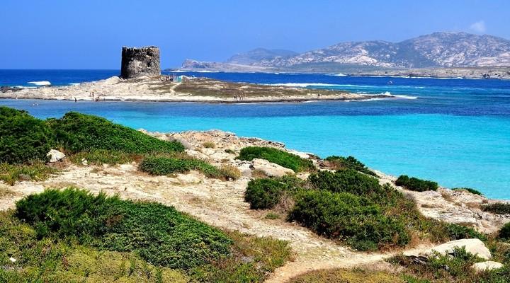 La Pelosa Beach, Sardinië, Italië