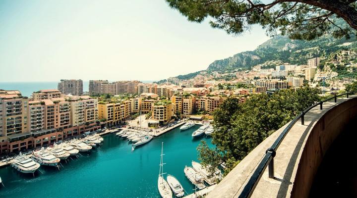 Uitzicht op Fontvieille Vorstendom Monaco