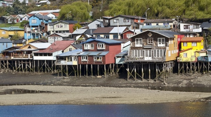 Palafitos in Castro, Chiloé