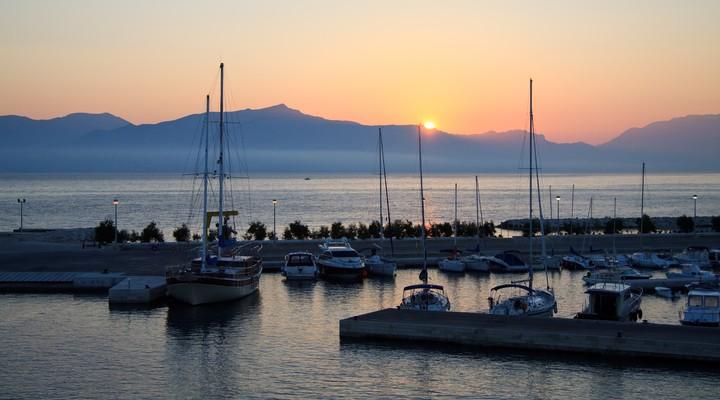 Haven Supetar op het eiland Brac in Kroatië