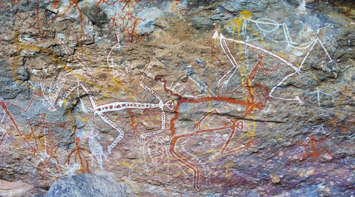 Aboriginal rotstekeningen in Kakadu National Park
