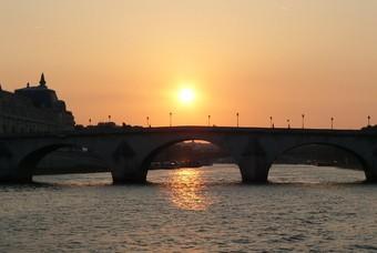 Zonsondergang Seine, Parijs