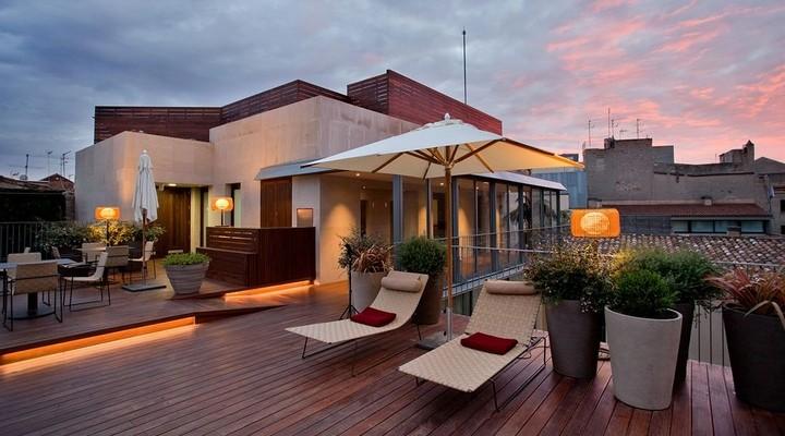 Het terras van het Mercer Hotel Barcelona