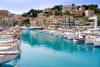 Haven in Puerto de Soller, Mallorca