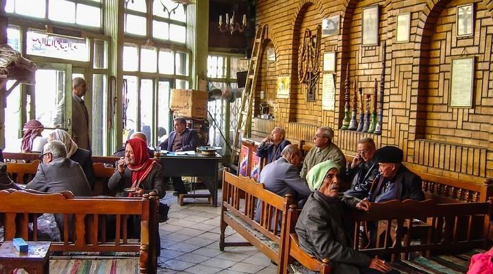 Shisha cafe Bagdad, hoofdstad Irak