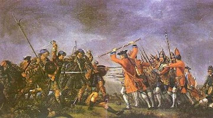 Slag bij Culloden, een strijd tussen de clans