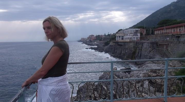 Genieten van de rust in Nervi, het buitengebied van Genua