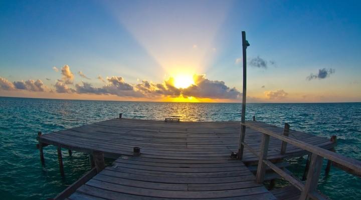 Zonsondergang in Belize