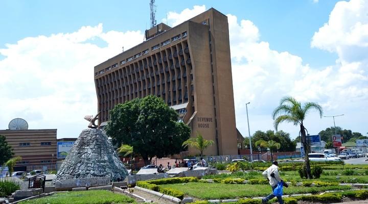 Plein in Lusaka, hoofdstad Zambia