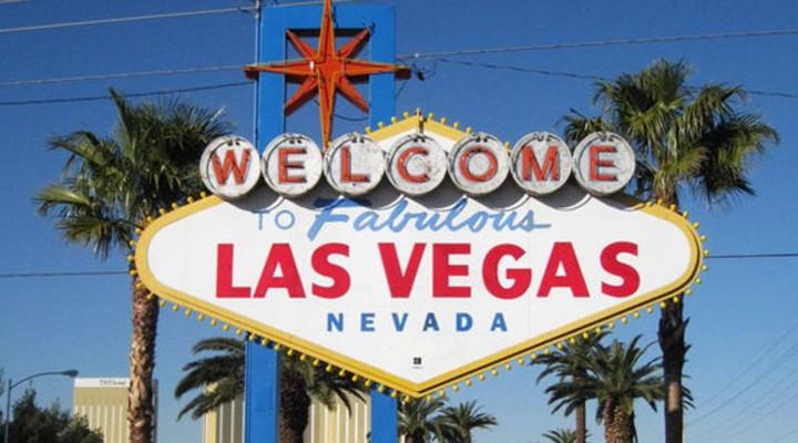 Welkomstbord in Las Vegas