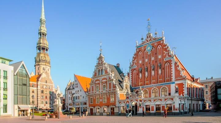 Het grote plein in Riga