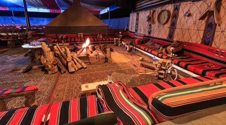 De binnenkant van ons kamp